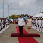 Presidente medina en Honduras con la vice–canciller
