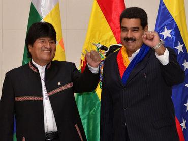 PRESIDENTE EVO MORALES Y NICOLAS MADURO