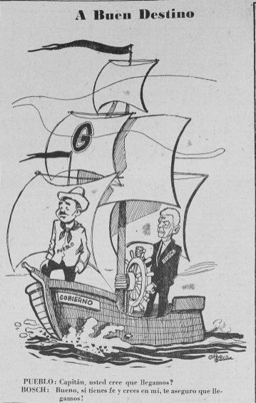 BOSCH EN CARICATURA DE LA NACION, 8 ABRIL 1963
