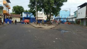 Trabajos de limpieza en parque Juan Antonio Alix