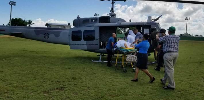 Nagua: Trasladan a hospital de las Fuerzas Armadas militares heridos