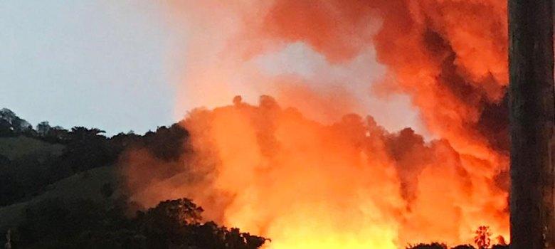 La Vega: Investigan causas fuego ebanistería