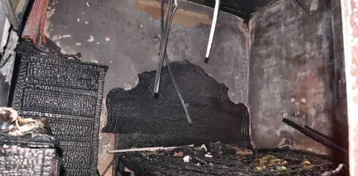Fuego afecta parcialmente segundo nivel de vivienda