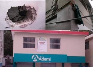 Investigan robo sucursal banco Ademi de Tamboril