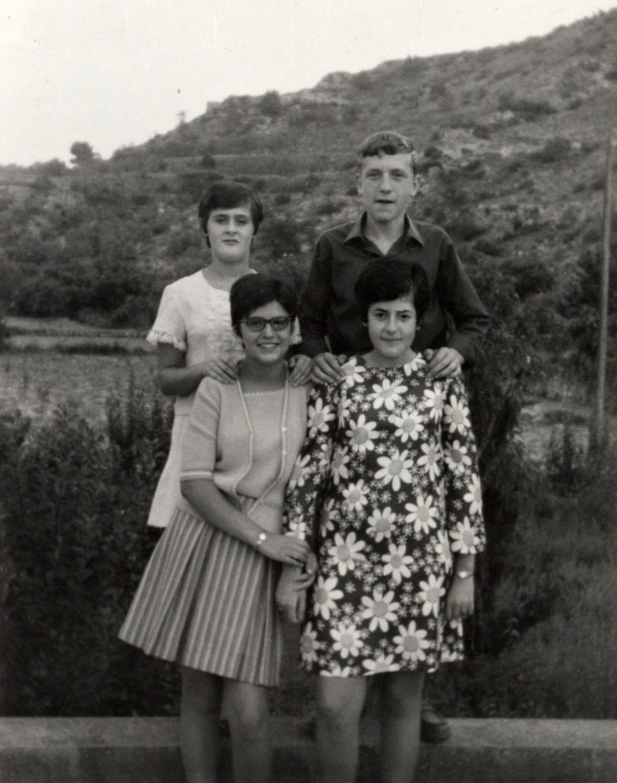 Mª Carme Carrileta, Domingo Flix, Nelly Piñol i Dolores Aran (foto cedida Domingo Flix)