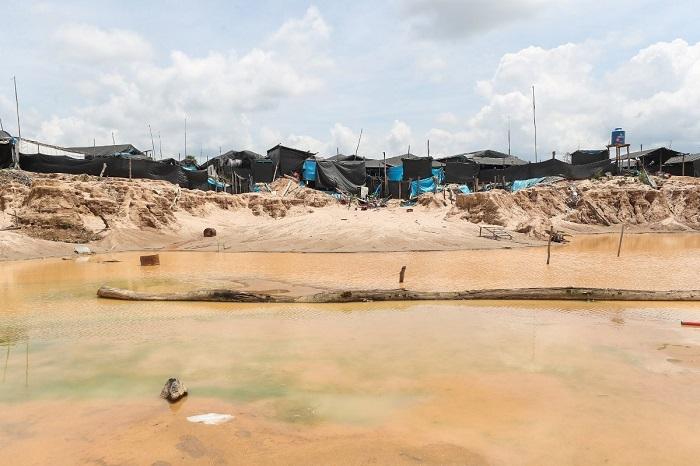 La minería aurífera deforestó hasta 2018 más de 18.000 hectáreas en esta zona del país. Foto cortesía