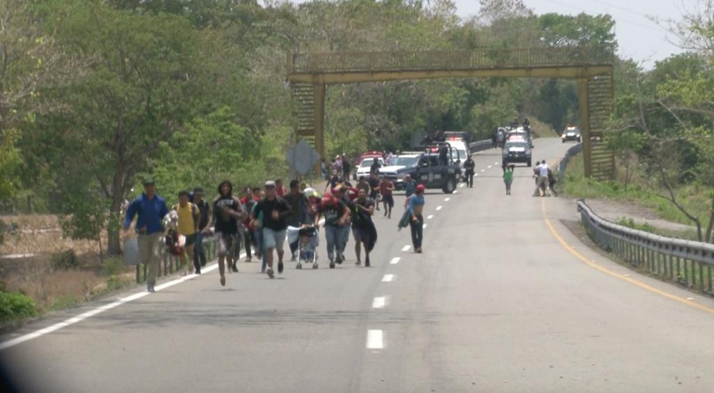 Persecución de migrantes en Chiapas. Foto cortesía