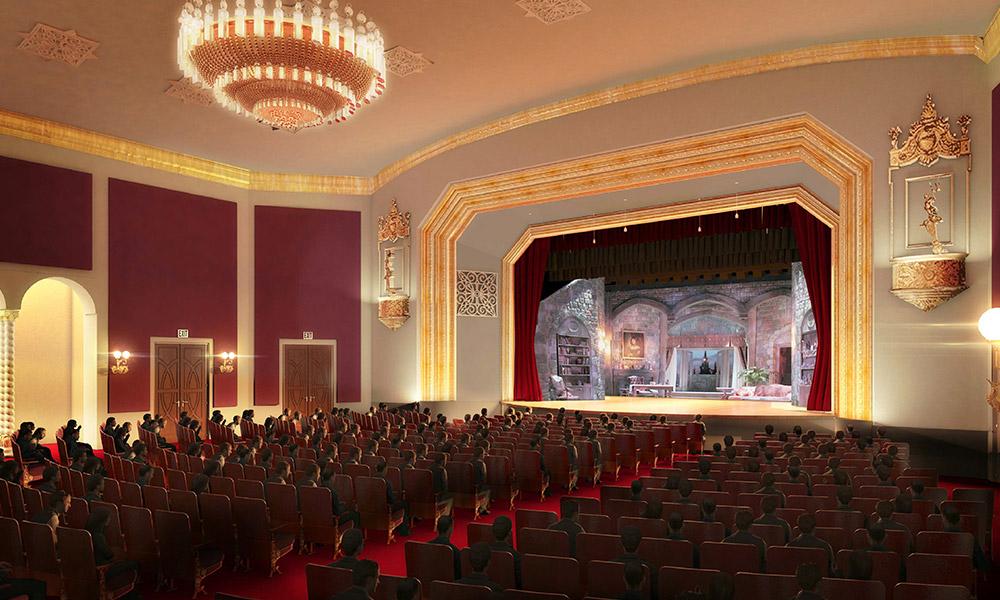 El auditorio del teatro Coconut Grove Playhouse en su época de esplendor. Foto cortesía