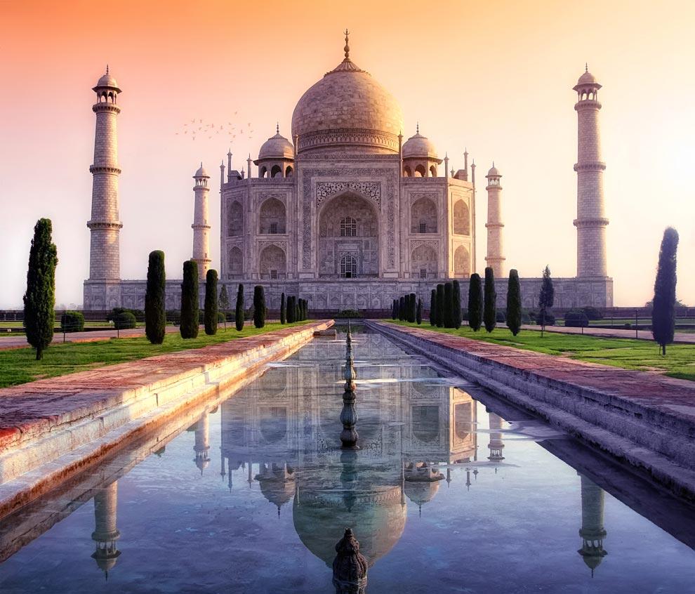 El Taj Mahal en la ciudad india de Agra es el mayor monumento al amor jamás construido. Foto cortesía