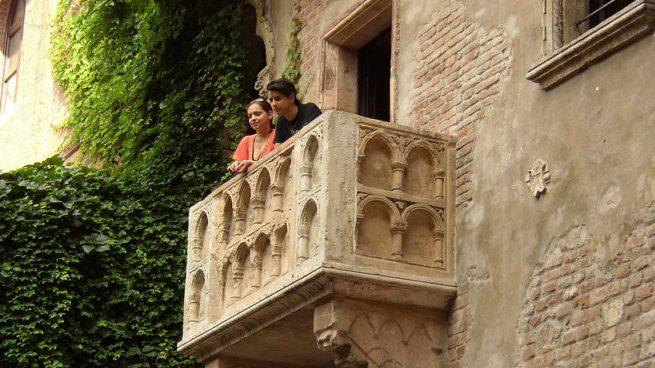El famoso balcón de Julieta y Romeo, Verona, Italia. Foto cortesía