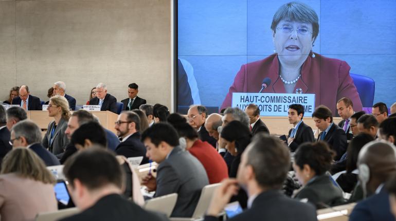 Michelle Bachelet en la primera sesión anual del Consejo. Foto cortesía