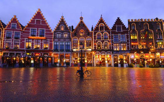 Atardecer en Brujas, Bélgica. Foto cortesía
