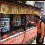Estupas de plegaria u oración hacia Namche Bazar