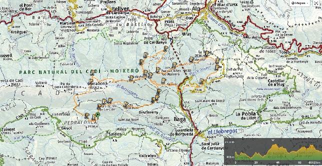 Mapa de Cavalls del Vent