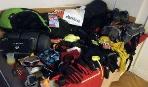 Material para una mochila de trekking
