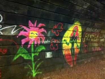 Within the tunnel - artists find a use for the lines