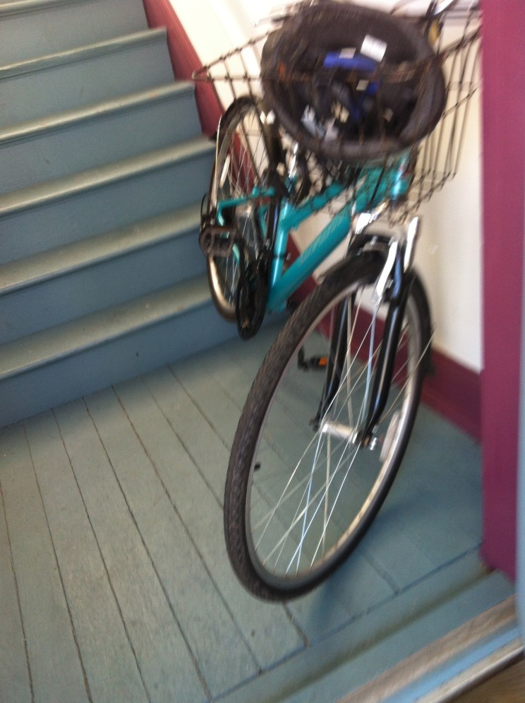 This is the real me - Like my bike I am mostly parked indoors