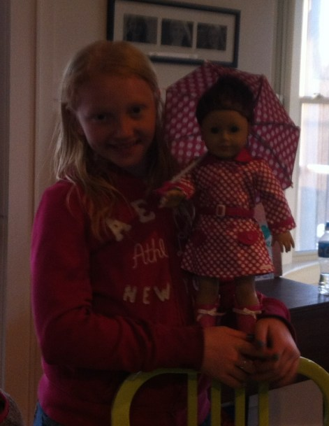 Rory and Sage with her birthday outfit - Sage gets more 'dolling up' than Rory these days