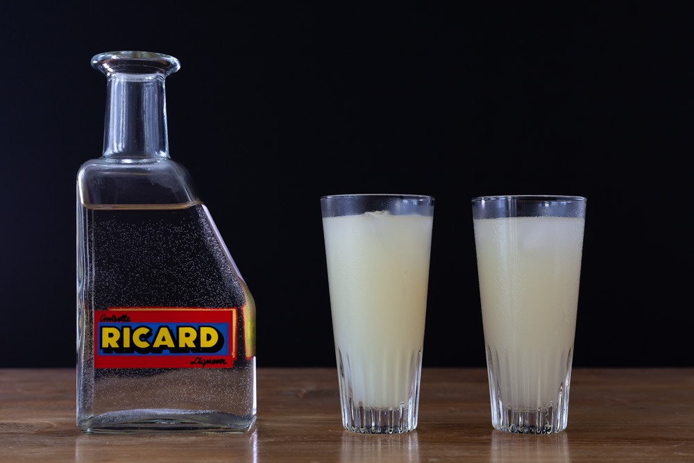 Ricard carafe with water