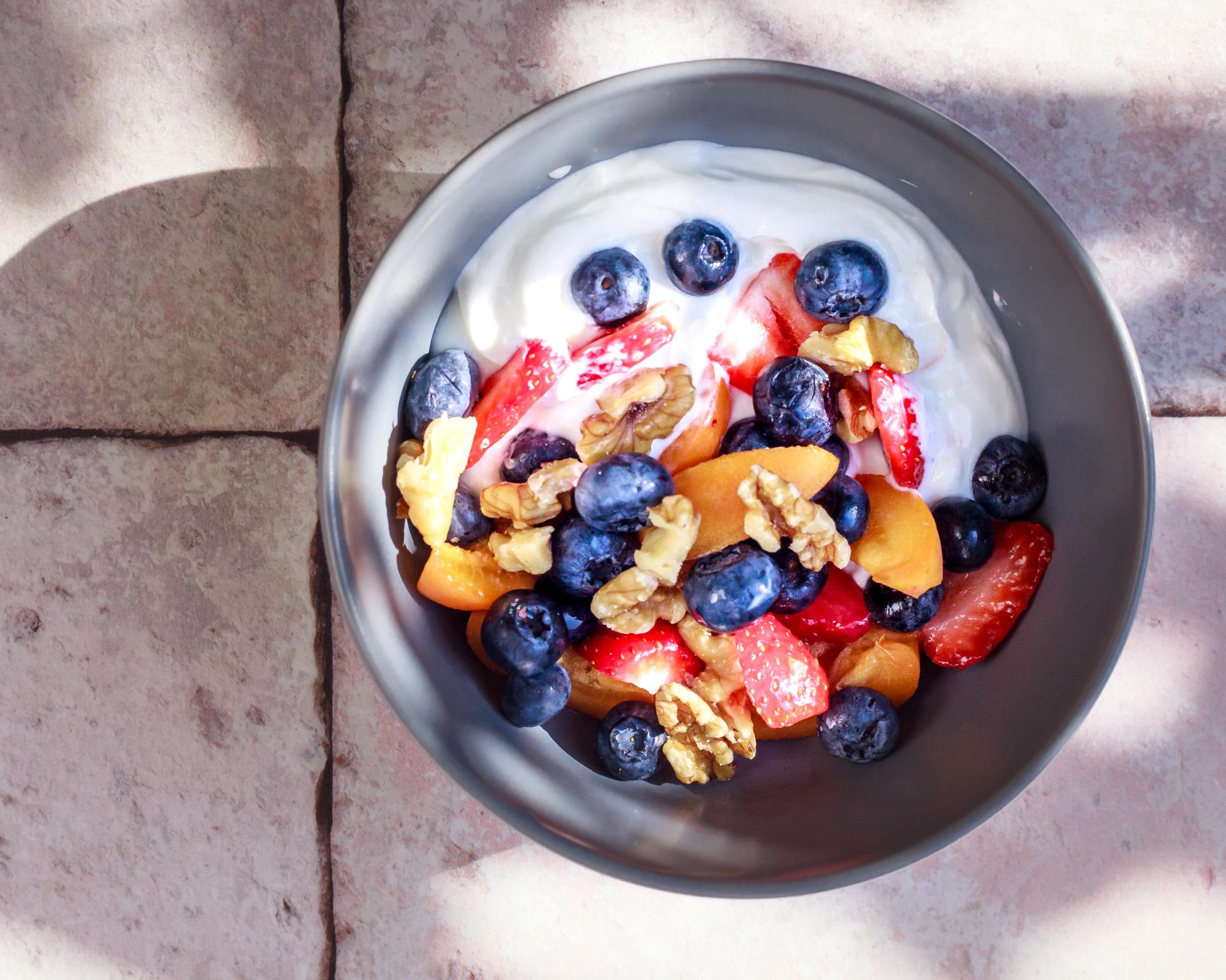 Breakfast Bowl in bright sunshine