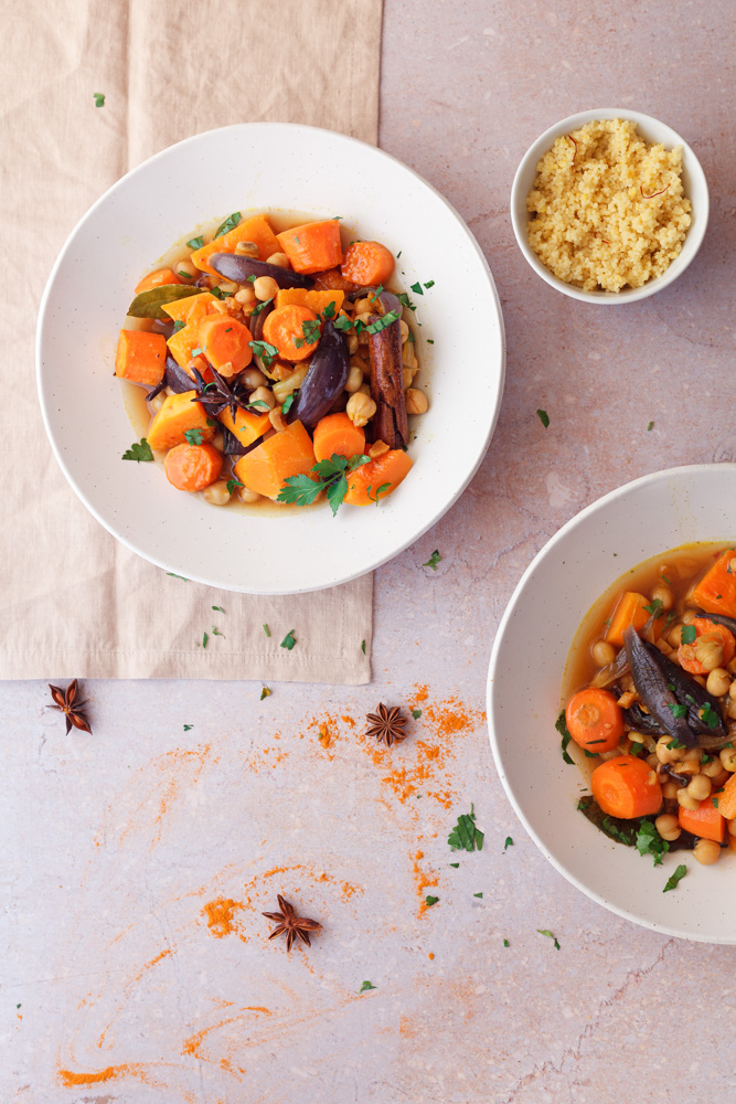 Winter Vegetable Tagine with Couscous