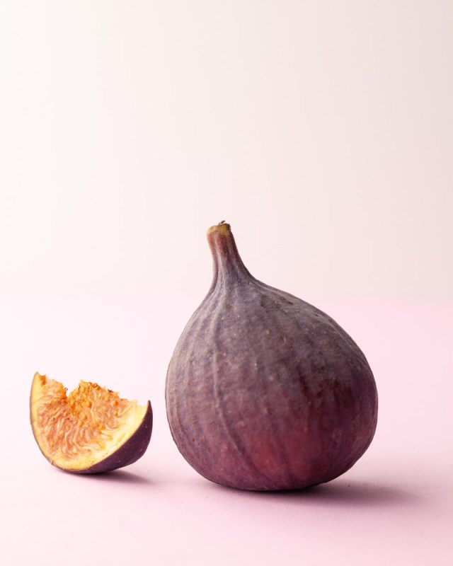 Fig with a cut slice of fig