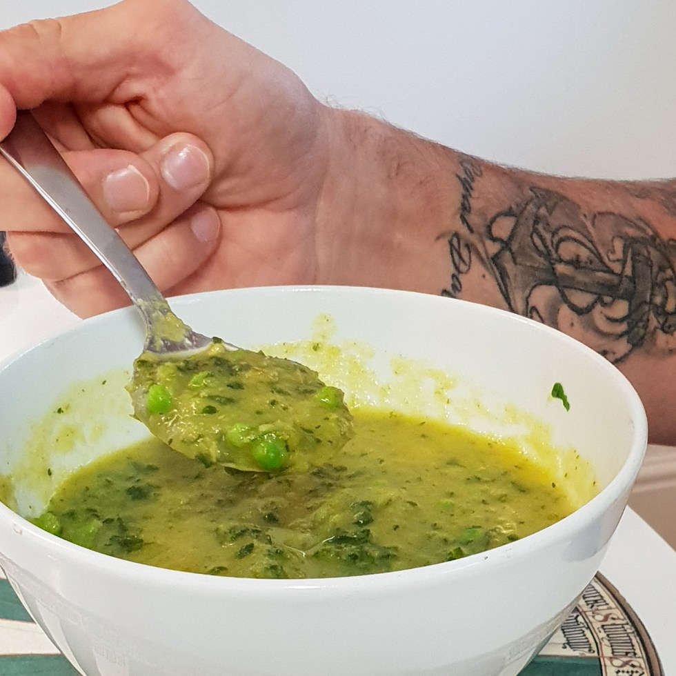 Parsnip Spinach & Pea Soup