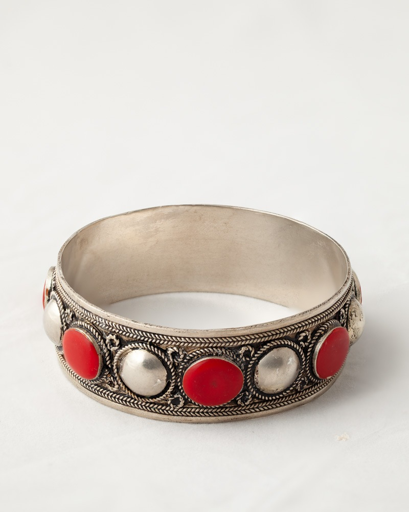 Moroccan Berber style bangle on white background