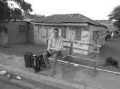 L'1 de gener, esperant guagua per anar a Sto. Domingo