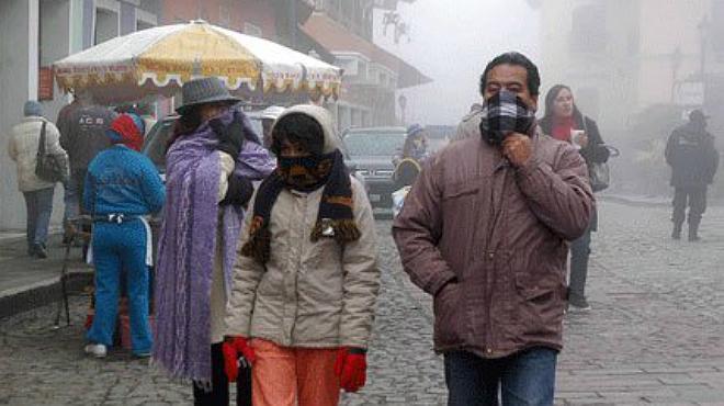 Alertan por bajas temperaturas en el norte y centro del país