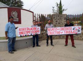 Se manifiestan Profesores del COBAEJ de Gómez Farías