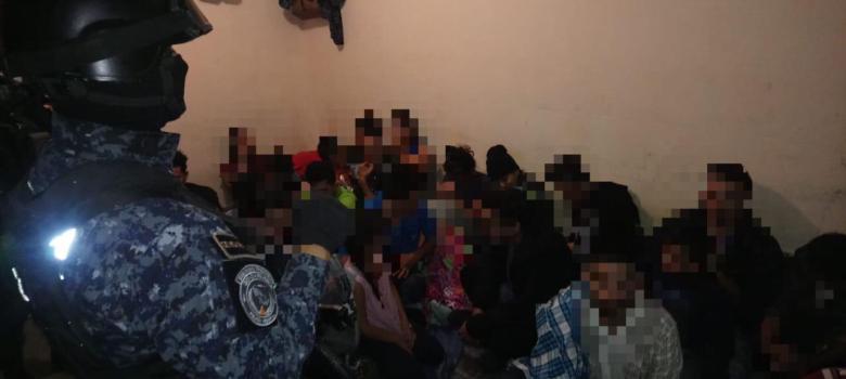 Policía Federal rescata a inmigrantes centroamericanos en Tamaulipas