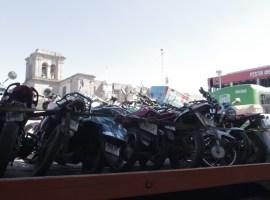 Más de 20 motocicletas se fueron al corralón en operativo en Ciudad Guzmán