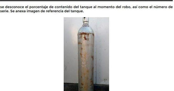 Emiten alerta en Jalisco por robo de cilindro con gas cloro