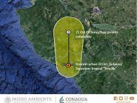 Priscilla se degrada a depresión tropical, llegará a Jalisco como baja presión