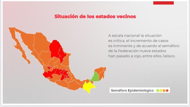 Jalisco regresa a semáforo rojo por Covid-19