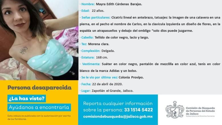 Un año sin Mayra Edith, desaparecida en Ciudad Guzmán