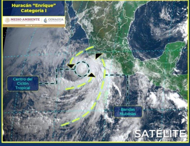 Enrique, ya como Huracán, se aproxima a Jalisco