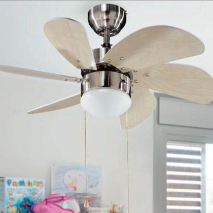 03950430 ventilador de techo pequeño ( varios acabados ) d.80 cms