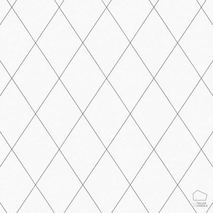 059oas436_01 Papel Pintado Geometrico Nordico Rombos Blancos