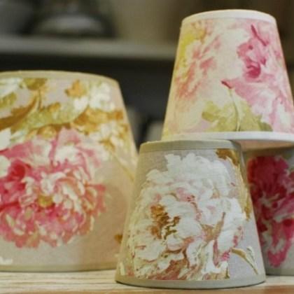 Pantallas de telas de flores, hechas a medida