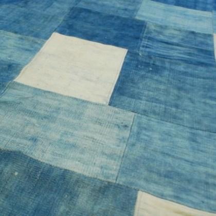 Alfombra azul denim