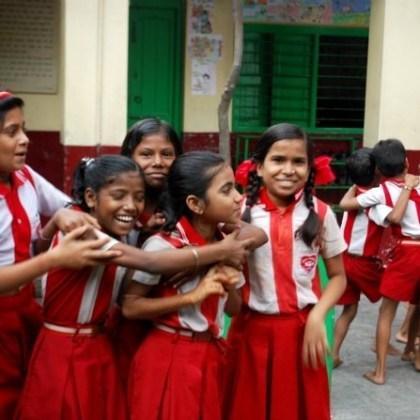 En la escuela de Calcuta ( India )
