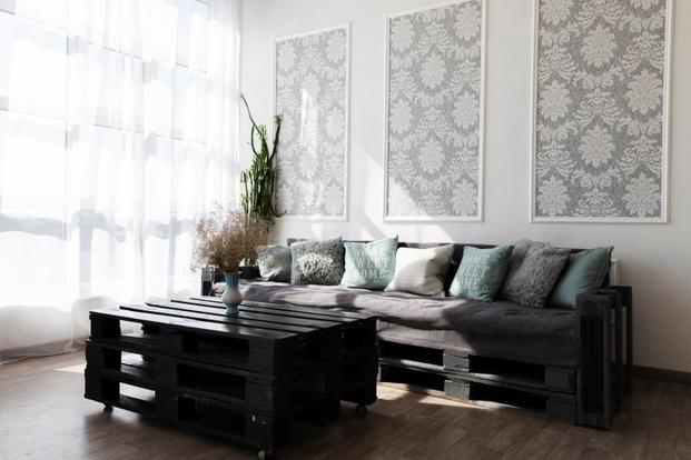 Sofá con palets para el salón