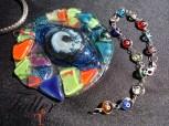 medallón vitrofisión ojo turco salta curso seminario toli taller vidrio horno pigmento