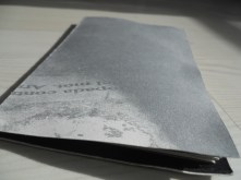Variacions sobre la llum. Prototip de llibre desplegable amb poemari de Joan Duran.