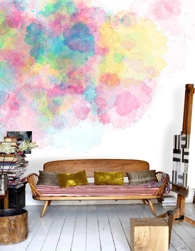 Pintar las paredes con efecto acuarela-el tarro de ideas