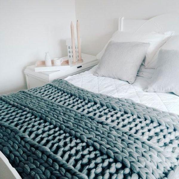 Mantas para no salir de la cama el tarro de ideas - Tejer mantas de lana ...