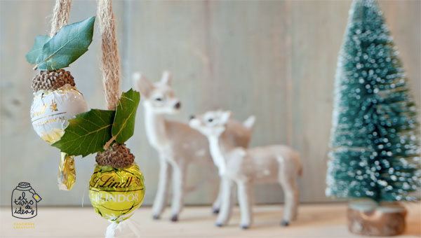 bombones, decoración, árbol, navidad, diy, hazlo tu mismo, tutorial, handmade, creativo, creatividad, paso a paso