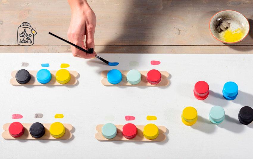colores, juguete, juego, aprender los colores, reciclar, eco, diy, tutorial, paso a paso, el tarro de ideas